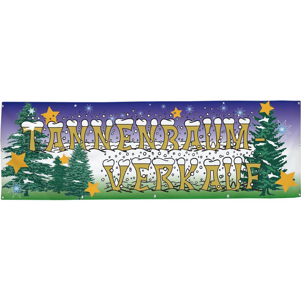 Banner Werbebanner Tannenbaum Verkauf Gr. 3x1m - Spannband 309906-309906