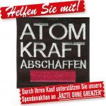 Aufnäher - Atomkraft abschaffen - 00021 - Gr. ca. 8 cm
