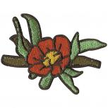 AUFNÄHER - Blume - 00053 - Gr. ca. 6 x 5 cm - Patches Stick Applikation