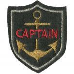 Aufnäher Patches Anker Captain Gr. ca. 4,8 x 6 cm 00787