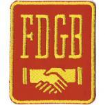 AUFNÄHER - FDGB - DDR - 00819 - Gr. ca. 7,5 x 9,5 cm - Patches Stick Applikation