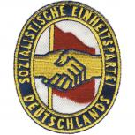 AUFNÄHER - SED - DDR - 00821 - Gr. ca. 9 x 7 cm - Patches Stick Applikation