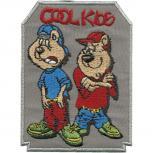 Aufnäher - Cool Kids - 01919 - Gr. ca. 7 x 9,5 cm - Patches Stick Applikation