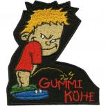 Aufnäher Pinkelmännchen - Gummi Kühe - 01930 - Gr. ca. 8cm x 11cm