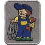 AUFNÄHER - Kfz-Mechaniker - 01942 - Gr. ca. 5,5cm x 7 cm - Patches Stick Applikation