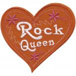 AUFNÄHER - Rock Queen - 01990 - Gr. ca. 9 x 8 cm - Patches Applikation Stick