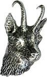 Anstecknadel - Metall - Pin - Gemse - Ziege - 02761 - Gr. ca. 1,8 x 3,4 cm