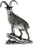 Anstecknadel - Metall - Pin - Gämse am Fels - Ziegen - 02764