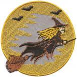 Aufnäher - Fliegende Hexe - 03159 - Gr. ca. 7,5 cm - Patches Stick Applikation