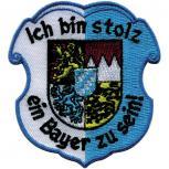 Aufnäher Applikation - Ich bin stolz ein Bayer zu sein - 04363 - Gr. ca. 7cm x 7,5cm