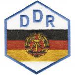 AUFNÄHER - DDR - Wappen - 04388 - Gr. ca. 7,5 x 8,5 cm - Patches Stick Applikation