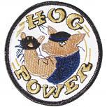 Patches Emblem Abzeichen Aufnäher rund - HOG POWER - Gr. ca. 7,5cm (04958) Bike Trike Truck Chopper Roller Motorrad