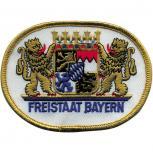 Aufnäher - Bayern Wappen - 04990/1 weiß - Gr. ca. 10cm x 8cm