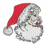 Aufnäher Weihnachtsmann seitlich Nikolaus Profil Gr. ca. 8cm x 8cm 05462