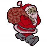 Aufnäher Weihnachtmann Nikolaus mit Sack Gr. ca. 6,5cm x 8,5cm 05475