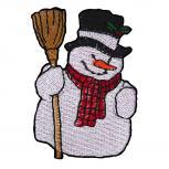 Aufnäher Snowman Schneemann Gr. ca. 4,5cm x 6cm 05476