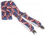 Hosenträger mit Print - wehende USA-Flagge - 06737