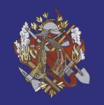 Wandbehang - Stoff - Fahne aus Satin - Feuerwehr - 07750 - ca 50 x 60 cm