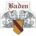 Rückenaufnäher - Patches - Wappen - BADEN - 08544 - Gr. ca. 23 x 21 cm