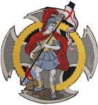 Rückenaufnäher große Applikation - 08597 - Gr. ca. 19x20 cm - Stick Emblem Feuerwehr