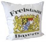 """Dekokissen Zierkissen Kissen Motivkissen mit Druck """"FREISTAAT BAYERN"""" NEU Gr. ca. 40x40cm (09147)"""