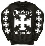 Sweatshirt mit Print - Choppers - 10116 - versch. farben zur Wahl - Gr. S-XXL