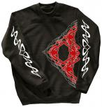 Sweatshirt mit Print - Tattoo - 10118 - versch. farben zur Wahl - schwarz / XXL