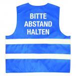 Warnweste mit Print - Bitte Abstand halten - 11569/1 Blau Gr. S