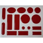 16er Epoxy Set Anstossschutz Kantenschutz Prallschutz Tuerschutzpuffer Rot - Restposten 125005/3