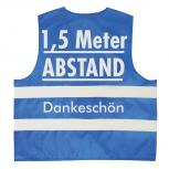Warnweste mit Print - 1,5 Meter Abstand Dankeschön - 15951 Gr. S-2XL Sicherheitsweste