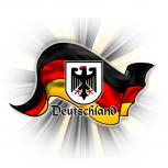 Flaschenöffner - Deutschland Flagge wehend - 06456 - Gr. ca. 5,7 cm