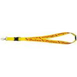 Schlüsselband Schlüsselanhänger Keyholder - BADEN - Gr. ca. 46x2cm - 07192 gelb