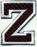 Aufnäher Patches - Buchstabe Z - Gr. ca. 6cm x 4cm - 21757 schwarz-weiß