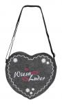 Herz-Filztasche mit Einstickung - Wies´n Luder - 26304 - Umhängetasche Bag
