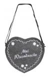 Herz-Filztasche mit Einstickung - Mei Wiesndaschn - 26308 - Umhängetasche Bag