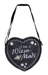 Herz-Filztasche mit Einstickung - Ich bin a Wiesn Madl - 26322 - Umhängetasche Bag