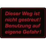 Warnschild - Weg ist nicht gestreut - 308606 - 30cm x 20cm