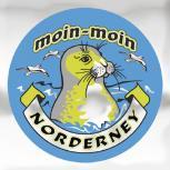 Auto-Aufkleber rund mit Spiegelfolie - moin-moin NORDERNEY - Gr. ca. 7.5cm (301498)