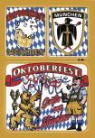 Postkarten- Aufkleber - Oktoberfest München - 301510 - Gr. ca. 10,5 x 15 cm