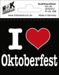 PVC-Aufkleber - I like Oktoberfest - 301510-2 - Gr. ca. 7,5 x 7 cm