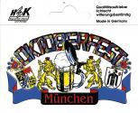 "Auto-Aufkleber ""Oktoberfest MÜNCHEN"" Gr. ca. 10,5 x 6,5cm (301511) Wappen Landeszeichen Flagge"