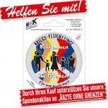 PVC-AUFKLEBER Autoaufkleber - Willkommen in Frieden - 303521-4 - Gr. ca.8 cm -