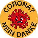 Anti Viren-Wunsch Aufkleber Gr. 10cm Viren? nein Danke 307534