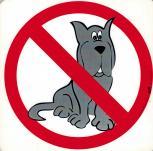 Schild - Hundeverbot - Gr. 20 X 20 cm - 308364 - Tiere Hund