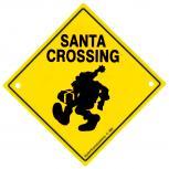 Adventure-Schild incl. 2 Saugnäpfe Hinweisschild Santa Crossing 309130/1 Gr. ca. 22,5cm x 22,5cm