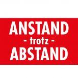 Warnschild - Anstand - trotz - Abstand - Gr. ca. 25 x 15 cm - 309527 rot