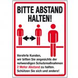Warnschild  Hinweisschild - Bitte Abstand halten... - Gr. ca. 50 x 70 cm - 309832