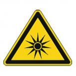 Schild Warnzeichen nach ISO 7010 - Warnung vor optischer Strahlung - 320207 Gr. ca. 19cm x 16cm
