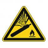 Schild Warnzeichen nach ISO 7010 - Warnung vor Gasflaschen - 320309 Gr. ca. 19cm x 16cm