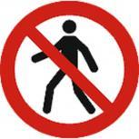 Schild Verbotszeichen nach ISO 7010 - Fußgänger verboten - 320484 rund Gr. ca. 20cm